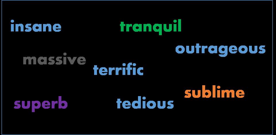 Emphatic Adjectives